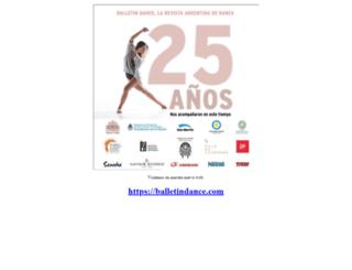 balletindance.com.ar screenshot
