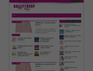 ballett-shop-online.de screenshot