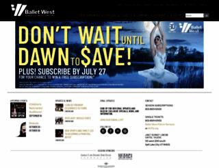 balletwest.org screenshot