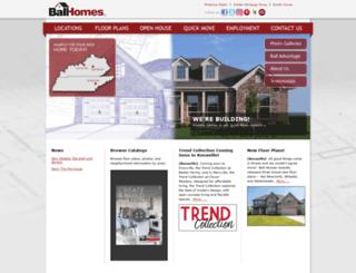 ballhomes.com screenshot