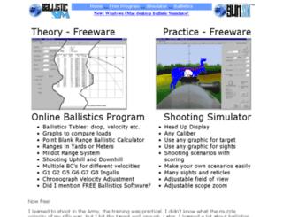 ballisticsimulator.com screenshot