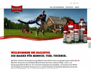ballistol.de screenshot