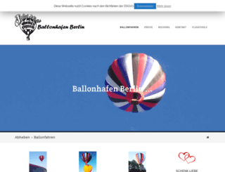 ballonhafen-berlin.de screenshot