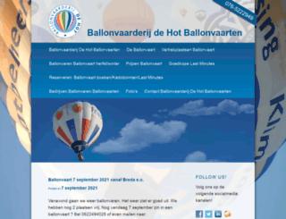 ballonvaarderij.nl screenshot