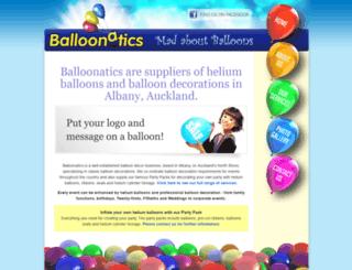 balloonatics.co.nz screenshot