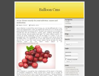ballooncms.com screenshot