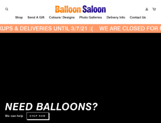balloonsaloon.com.au screenshot
