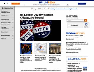ballotpedia.com screenshot