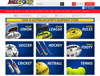 ballsports.com.au screenshot