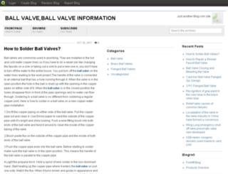 ballvalves.blog.com screenshot