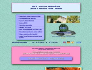 balneo-thalasso-ibade.com screenshot