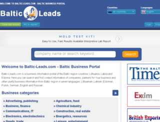 baltic-leads.com screenshot
