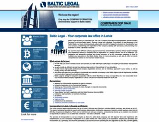baltic-legal.com screenshot