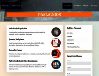 baltijosfinansai.lt screenshot