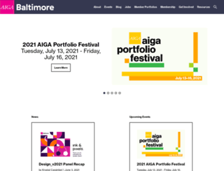 baltimore.aiga.org screenshot