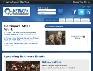 baltimore.networkafterwork.com screenshot