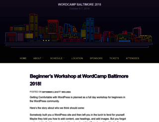 baltimore.wordcamp.org screenshot