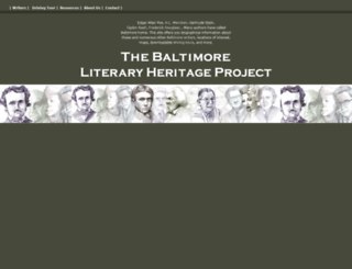 baltimoreauthors.ubalt.edu screenshot