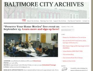 baltimorecityhistory.net screenshot