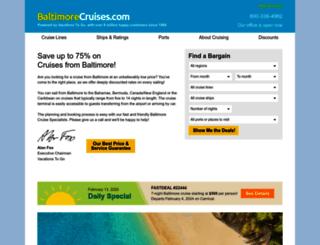 baltimorecruises.com screenshot
