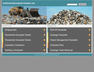 baltimoredumpsterrentals.net screenshot