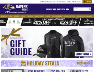 baltimoreravensstore.com screenshot