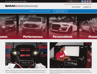 bama.americanmuscle.com screenshot