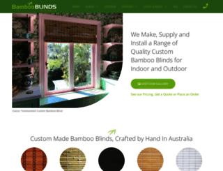 bambooblinds.com.au screenshot