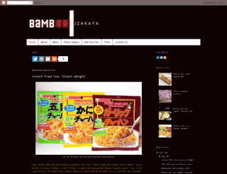 bambooizakaya.blogspot.com screenshot