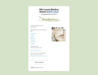 bamboosheets.wishpond.com screenshot
