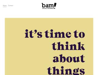 bamsocialbusiness.com screenshot