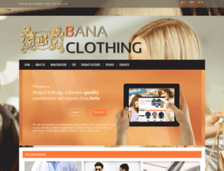 banaclothing.com screenshot