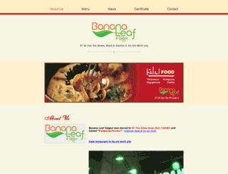bananaleafsaigon.com screenshot
