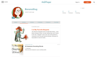 bananaslug.hubpages.com screenshot