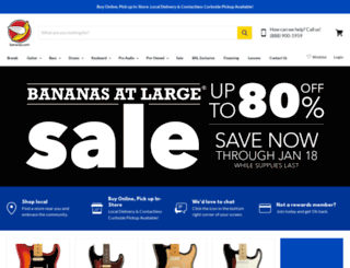 bananasmusic.com screenshot