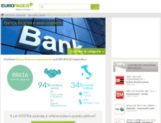 banca-finanza-assicurazioni.europages.it screenshot