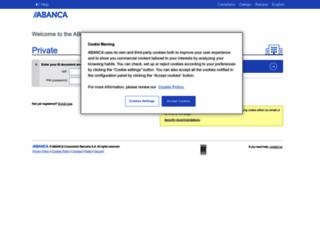 bancaelectronica.abanca.com screenshot