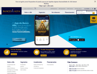 bancoalfa.com.br screenshot