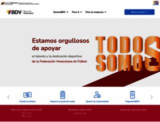 bancodevenezuela.com screenshot