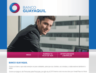 bancoguayaquil.multitrabajos.com screenshot