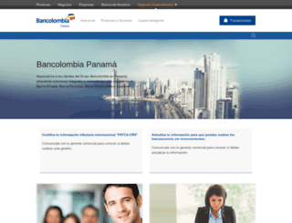 bancolombiapanama.com screenshot