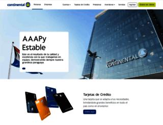 bancontinental.com.py screenshot