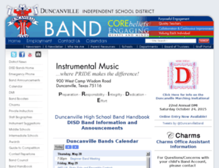 band.duncanvilleisd.org screenshot