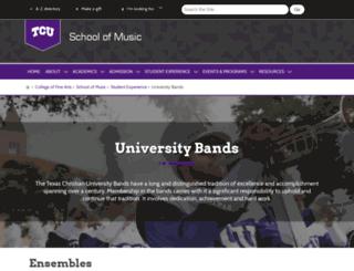 band.tcu.edu screenshot