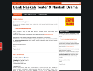 bandarnaskah.blogspot.com screenshot