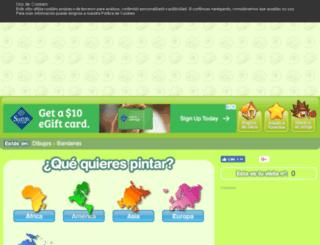 banderas.minidibujos.com screenshot