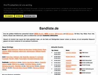 bandliste.de screenshot