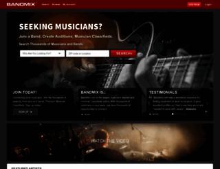 bandmix.com screenshot