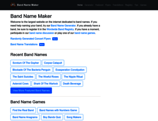bandnamemaker.com screenshot