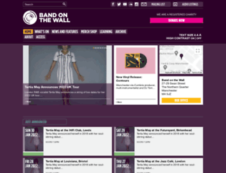 bandonthewall.org screenshot